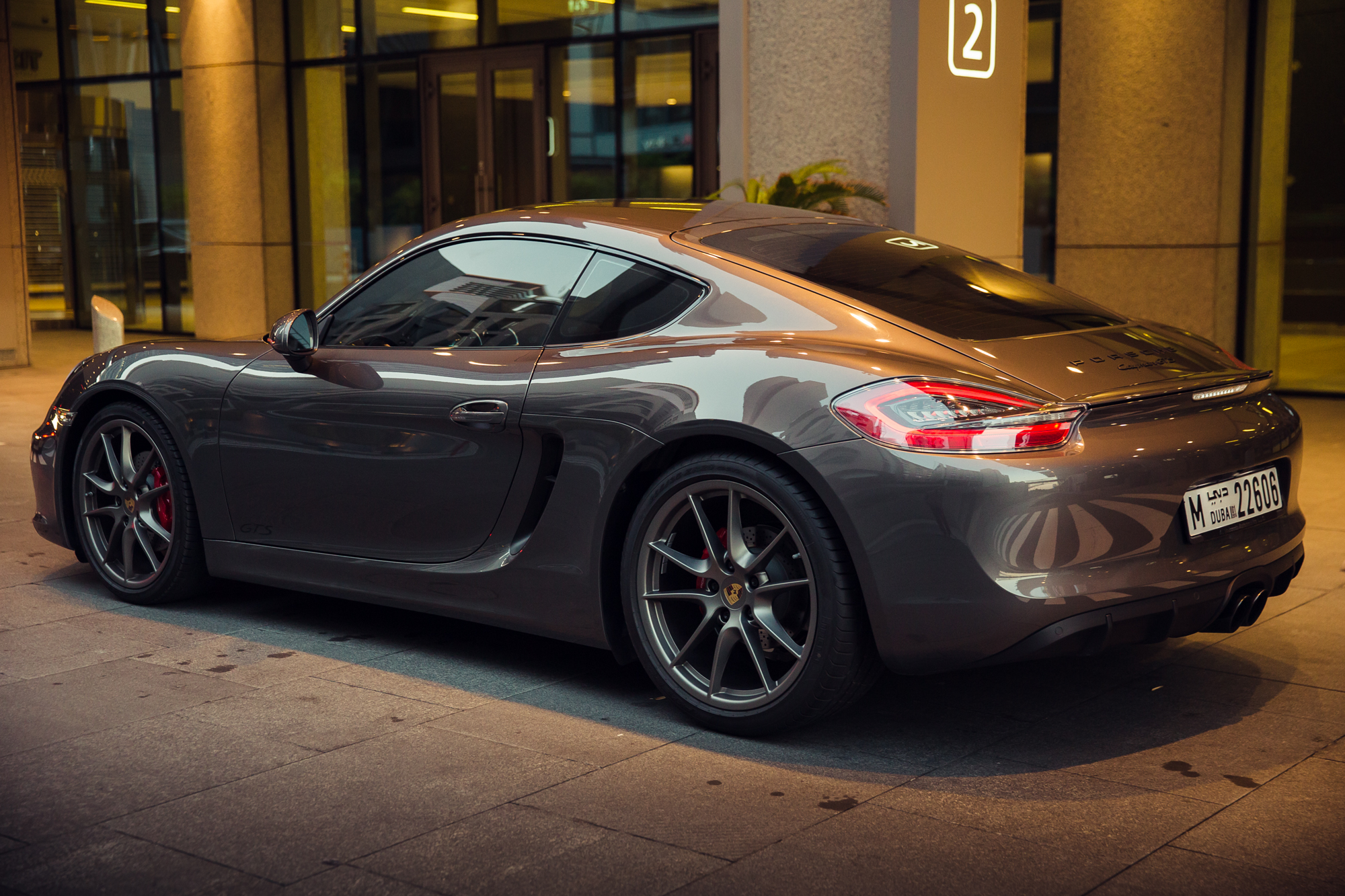 just received my 2015 agate grey cayman gts in dubai
