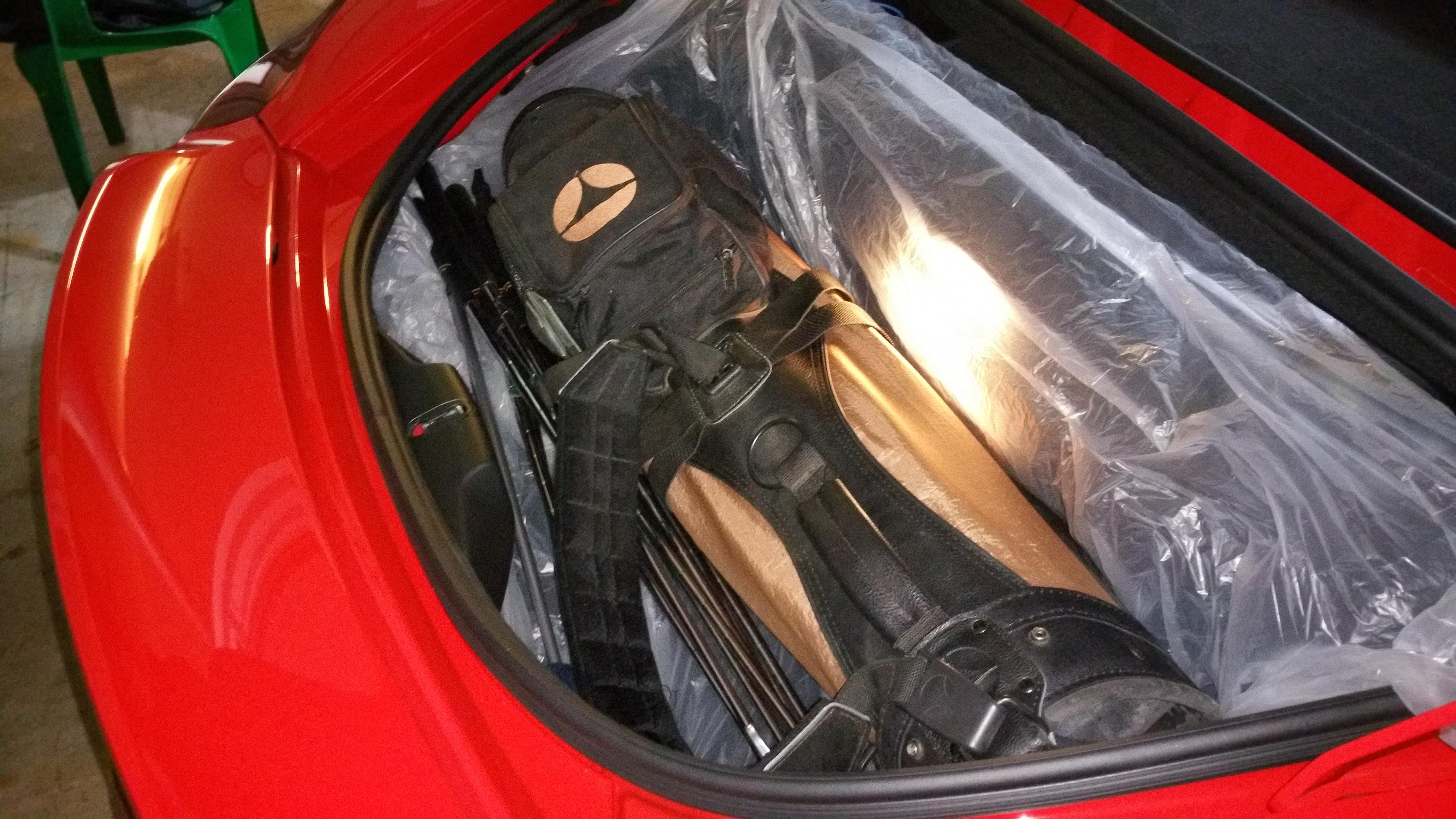 Golf Clubs Fit In The Spyder Planet 9 Porsche Forum