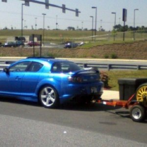 RX-8 with trailer