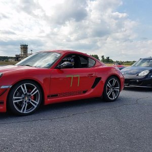 Cayman R at zone 1 autocross