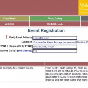 Croctoberfest Registration Instructions