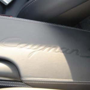 Rear Center Console - Leather with Cayman S embossed