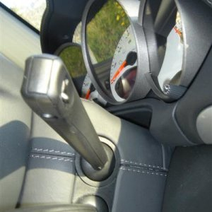 Steering Column Covered Interior Leather