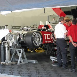 ALMS Garage at Long Beach