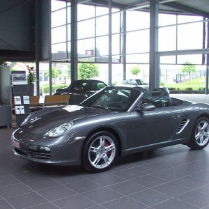 2007 Boxster S, Meteor Grey, delivery pic 2