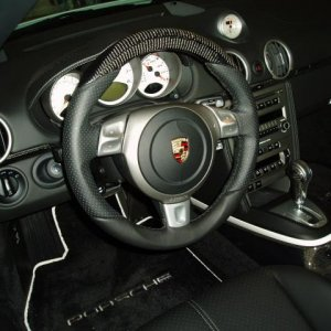 Techart sport steering wheel w/ carbon fiber