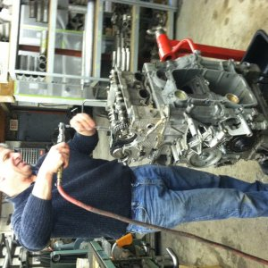 Mike Working On Engine