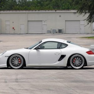 Cayman With Cup Car Wing Side Profile