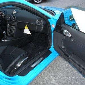 Mexico Blue instrument surround in exterior color