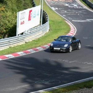 Pikey's Cayman at the Nurburgring