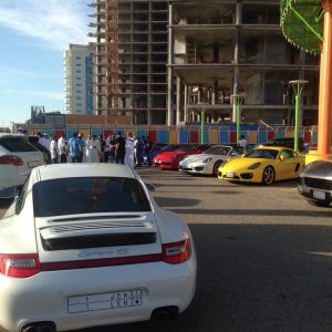 991 turbo @ Jeddah Porsche Club drive event