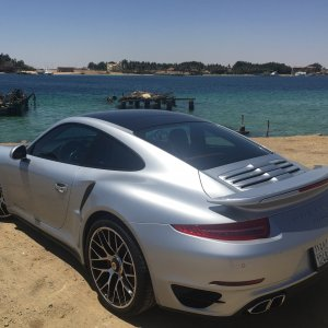 My 991 turbo @ the beach