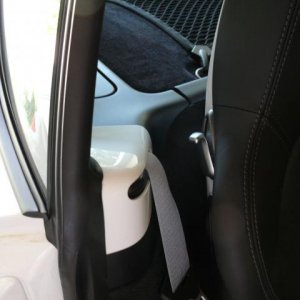 Seat Belt Outlet in Exterior Color