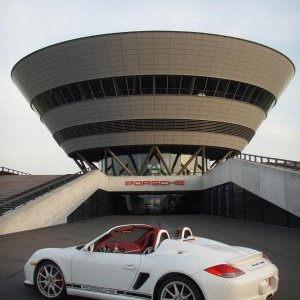 Boxster Spyder Shines In Front Of Porsche Leipzig Diamond
