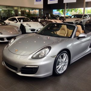 GT Silver Boxster 981 2014