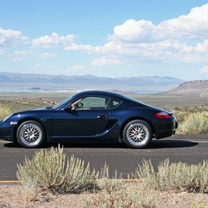 Cayman S Overlooking Mono Lake