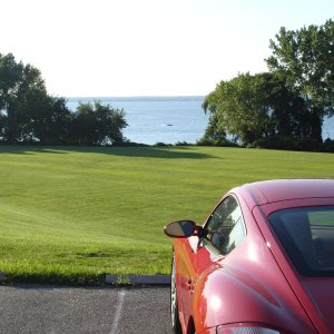 Cayman S Looking Out Over Long Island Sound