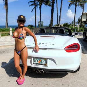 DropTopGal ~ 2012 Boxster S ~ Wicked Weasel ~ First Beach